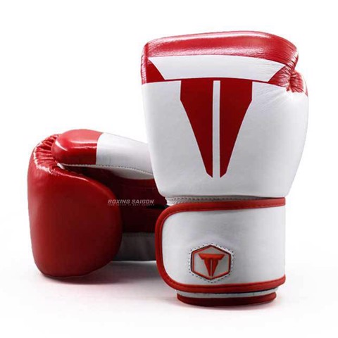 Găng Tay Throwdown Full-Grain Leather Boxing Gloves - White/Red