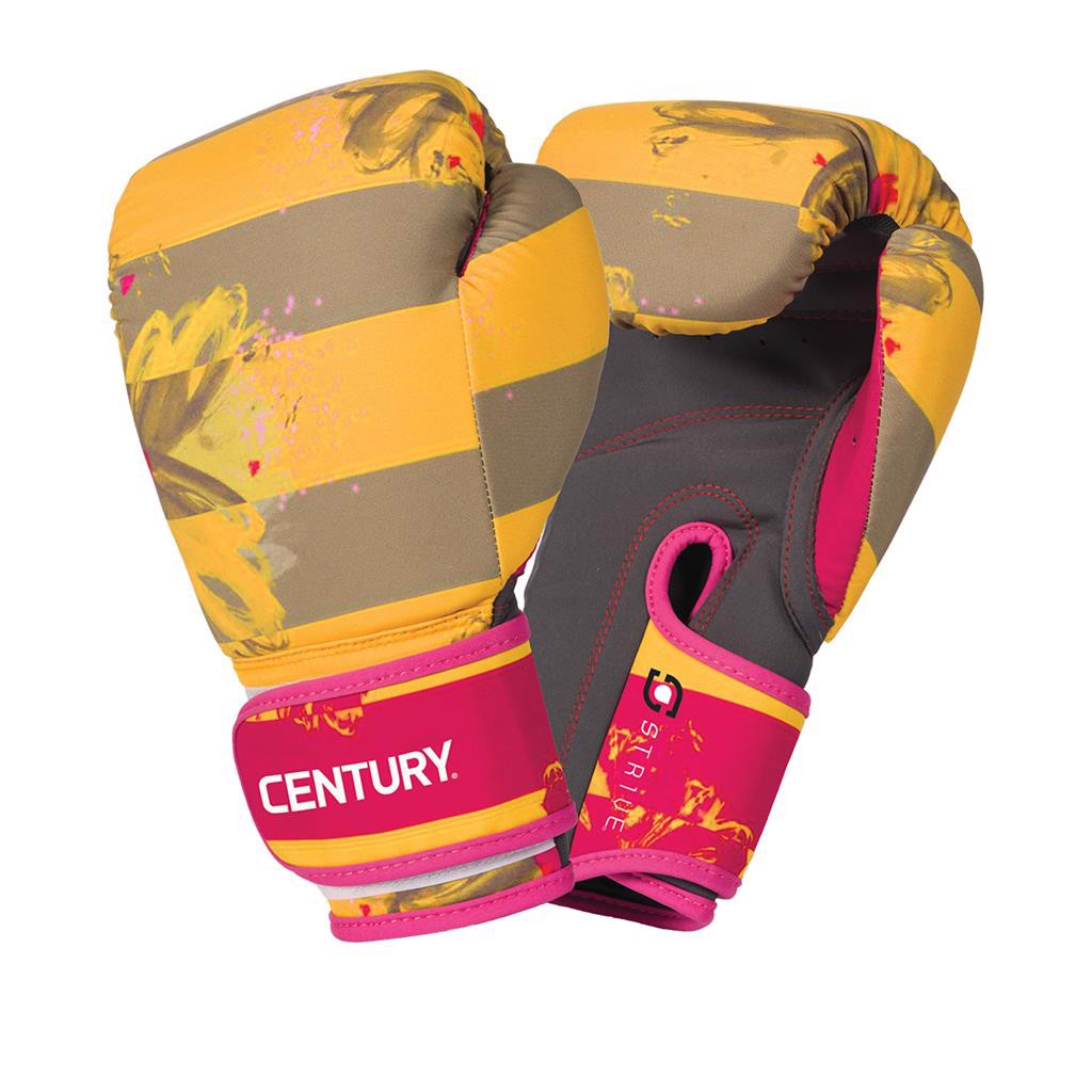Găng Tay Century Strive Washable Boxing Gloves - Floral Negative Yellow