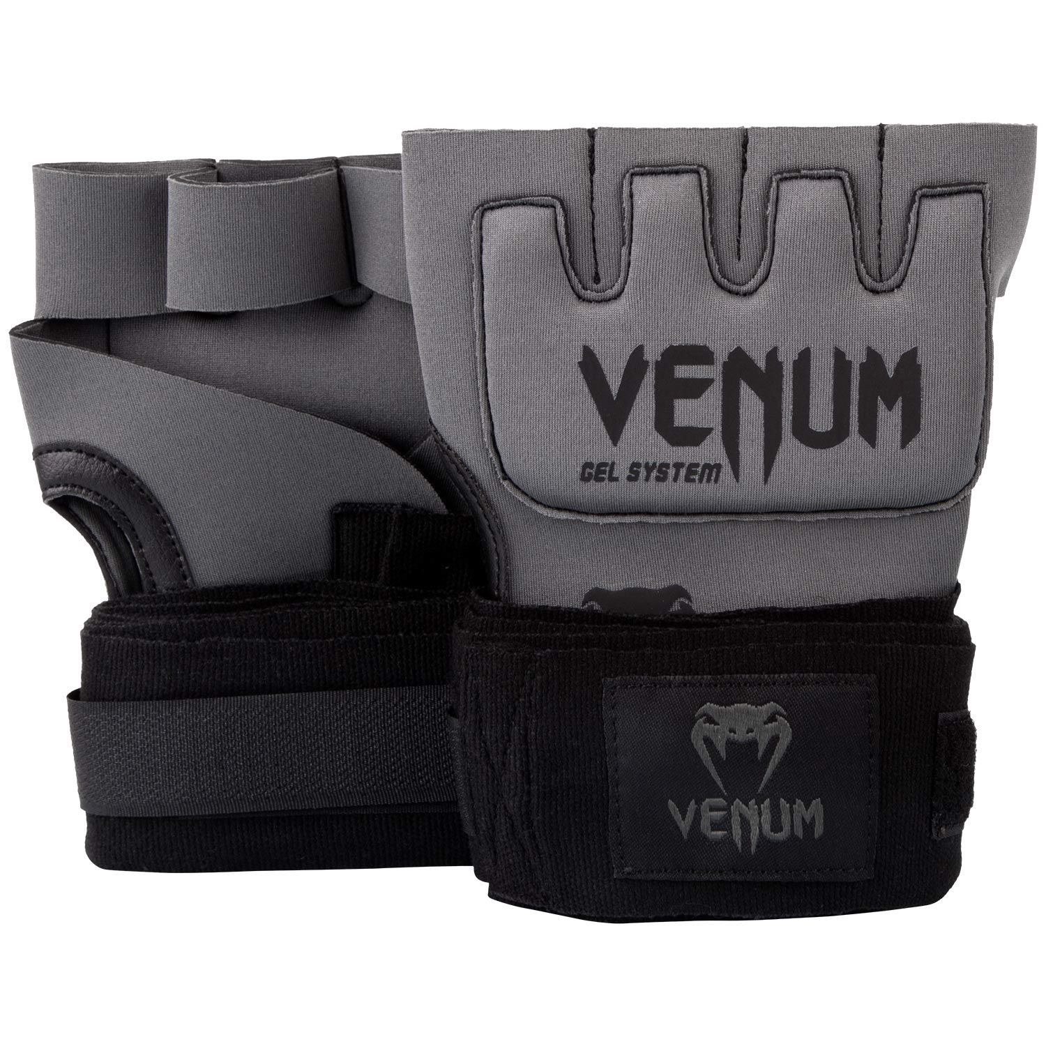 Băng Tay Xỏ Venum Kontact Gel Glove Wraps - Grey/Black