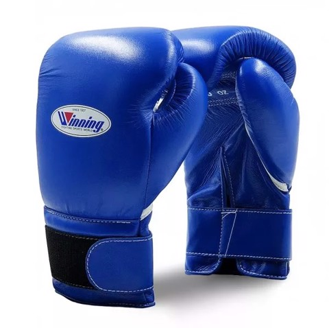 Găng Tay Boxing Winning Velcro Gloves - Blue