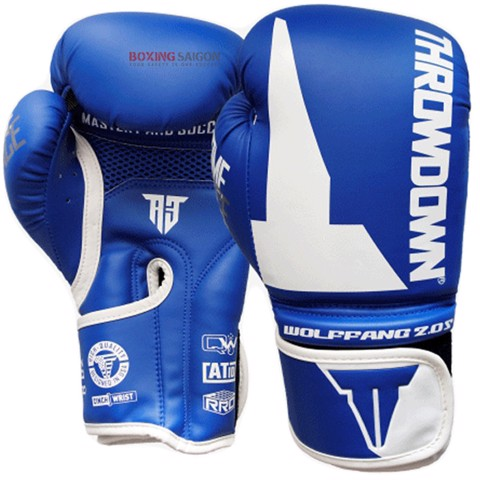 GĂNG TAY THROWDOWN WOLF FANG 2.0S BOXING GLOVES - BLUE/WHITE
