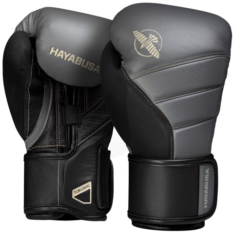 GĂNG TAY HAYABUSA T3 BOXING GLOVES - CHARCOAL/BLACK