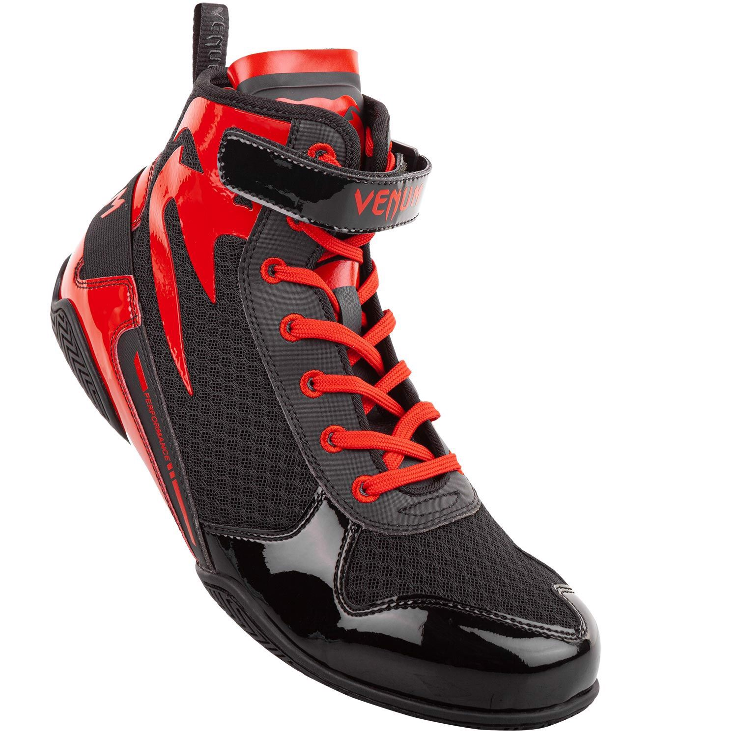 Giày Venum Giant Low Boxing Shoes - Black/Red