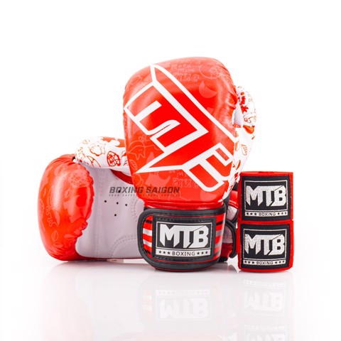 COMBO GĂNG TAY TRẺ EM MAX MTB NEW KIDS BOXING GLOVES - RED