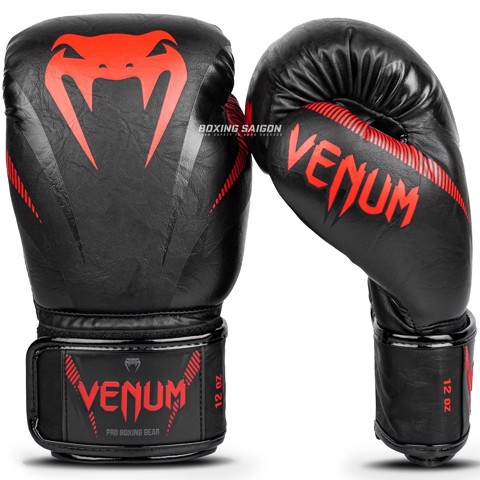 Găng Tay Venum Impact Boxing Gloves - Black/Red