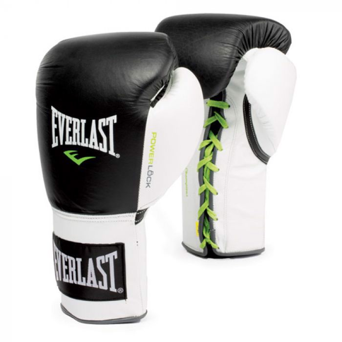 Găng Tay Everlast Powerlock Laced Training Gloves - Black/White