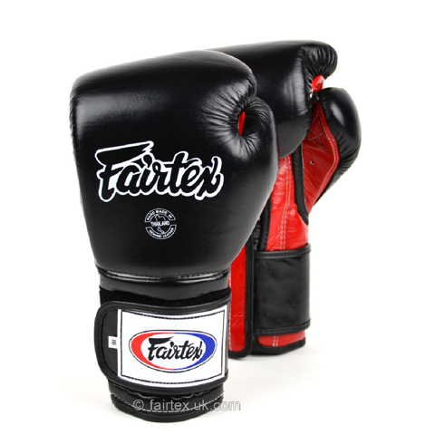GĂNG TAY FAIRTEX BGV9 MEXICAN STYLE BOXING GLOVES - BLACK/RED