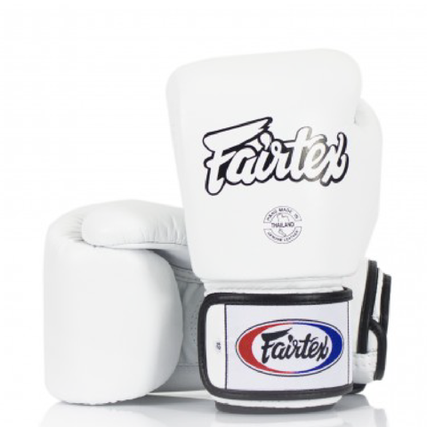 GĂNG TAY FAIRTEX BGV1 TIGHT FIT MUAY THAI/BOXING GLOVES - WHITE