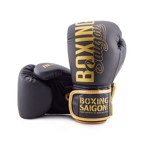 Găng tay Boxing Saigon Inspire - Black/Gold