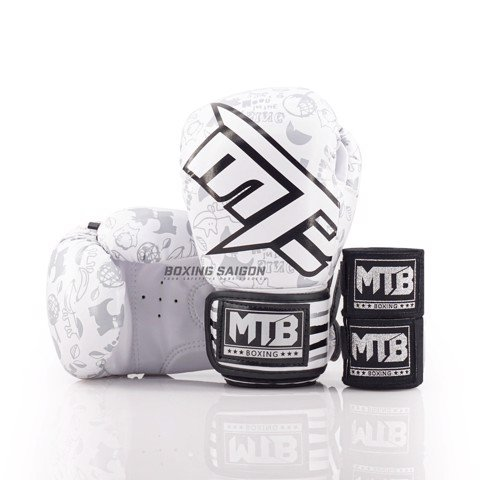 COMBO GĂNG TAY TRẺ EM MAX MTB NEW KIDS BOXING GLOVES - WHITE