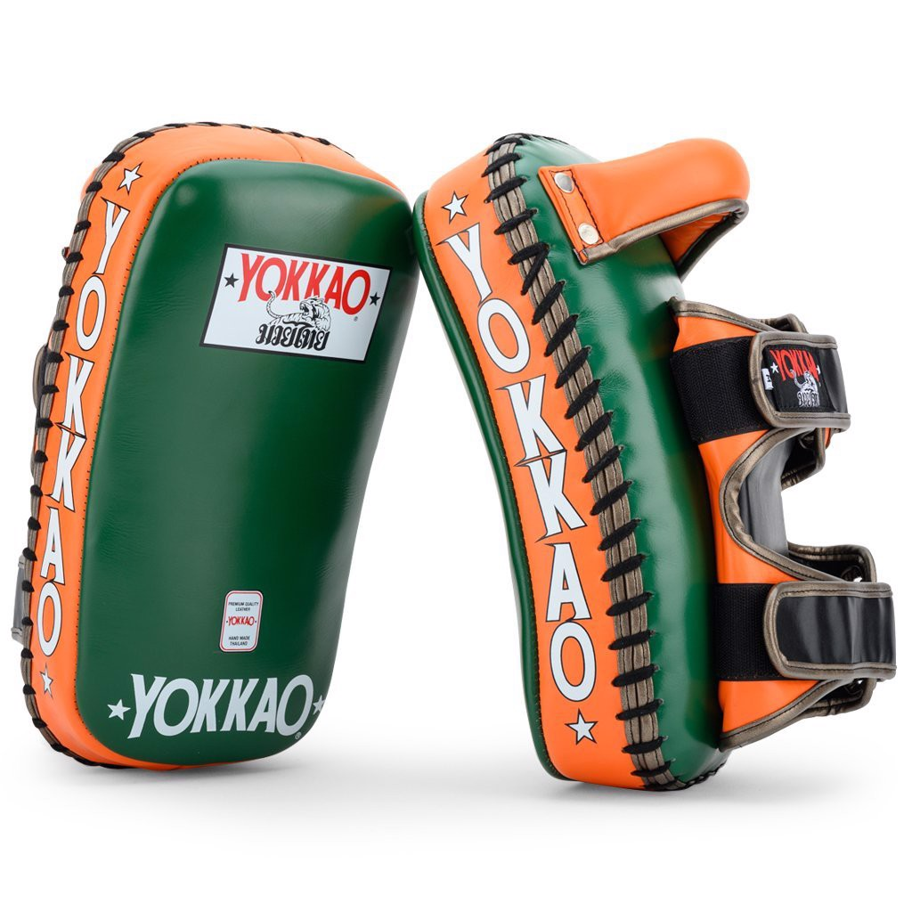 Đích Đá Yokkao Kypcl-15 Curved Kicking Pads Eden Green/Orange Tiger