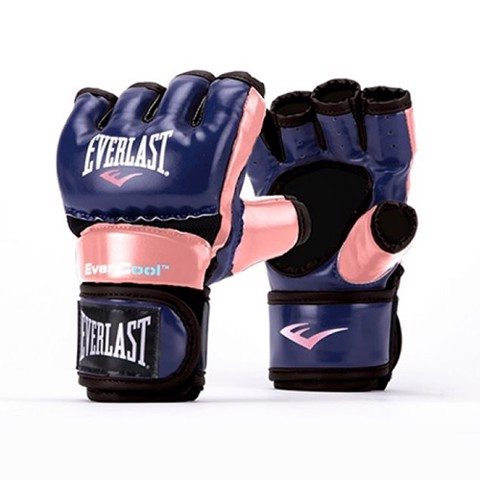 GĂNG TAY EVERLAST WOMEN'S EVERSTRIKE TRAINING MMA GLOVES - PINK/BLUE