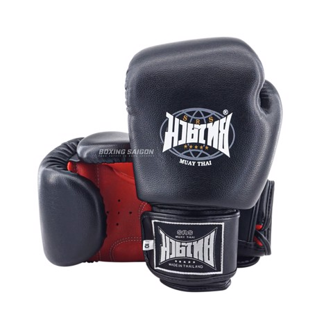 Găng Tay Srs Muay Thai & Boxing Gloves - Black