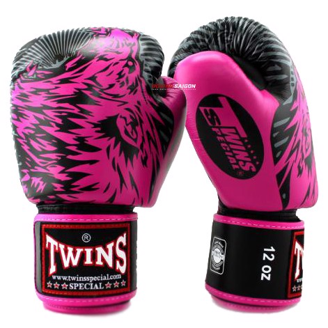 Găng Tay Twins Fbgv-50 Velcro Gloves (Thailand Leather 100%) - Dark Pink