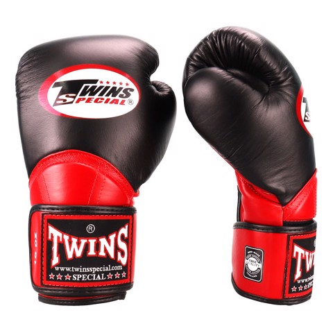 Găng Tay Twins Bgvl-11 Velcro Boxing Gloves - Black/Red
