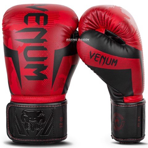 Găng Tay Venum Elite Boxing Gloves - Red Camo