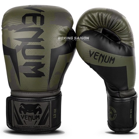 Găng Tay Venum Elite Boxing Gloves - Khaki Camo