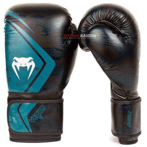 Găng Tay Venum Defender Contender 2.0 Boxing Gloves - Black/Green