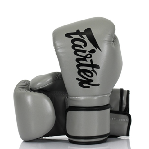 GĂNG TAY FAIRTEX BGV14 MICROFIBER LEATHER BOXING GLOVES - GREY