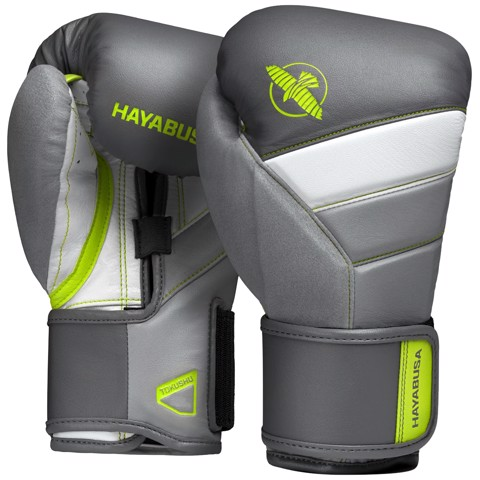 GĂNG TAY HAYABUSA T3 BOXING GLOVES - CHARCOAL/LIME