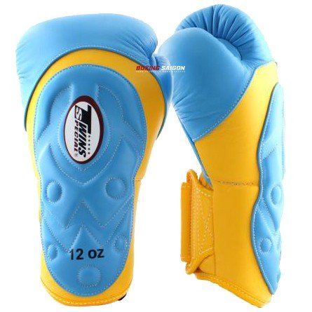 GĂNG TAY TWINS BGVL6-AV SPECIAL NEW STYLES BOXING GLOVES - YELLOW/LIGHT BLUE