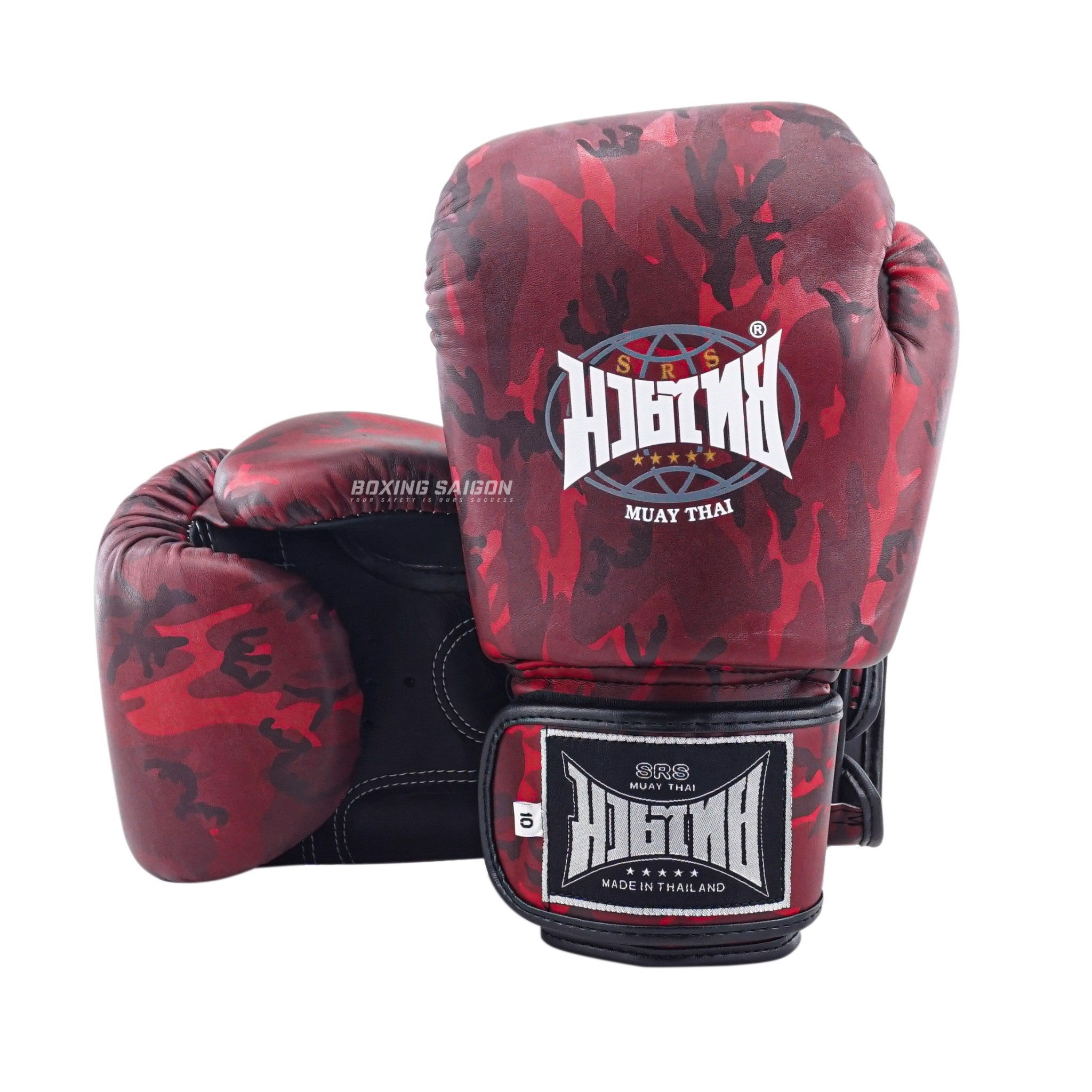 Găng Tay Srs Muay Thai & Boxing Gloves - Red Camo