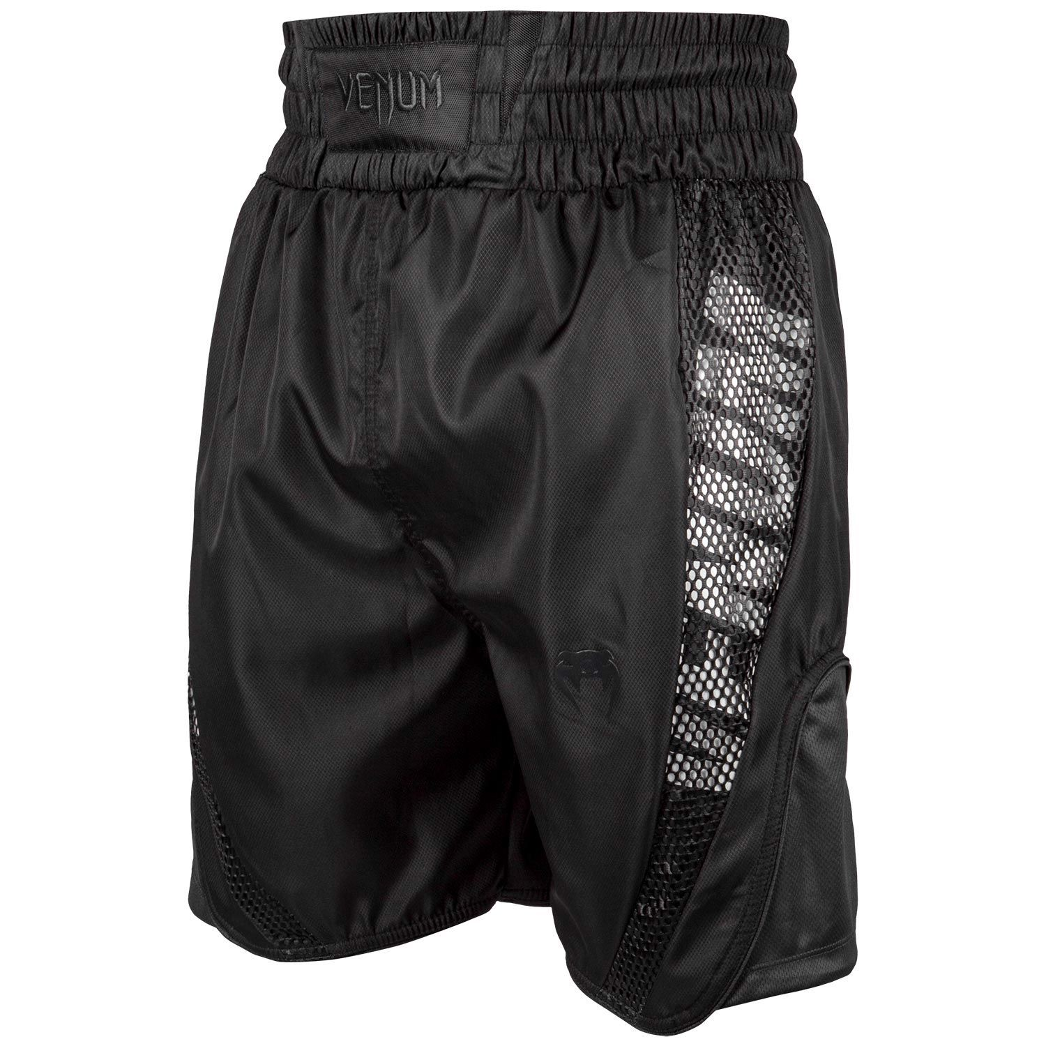 Quần Venum Elite Boxing Shorts - Black/Black
