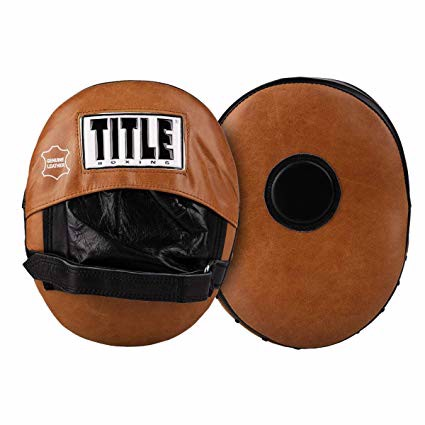 Đích Đấm Title Vintage Leather Punch Mitts - Brown