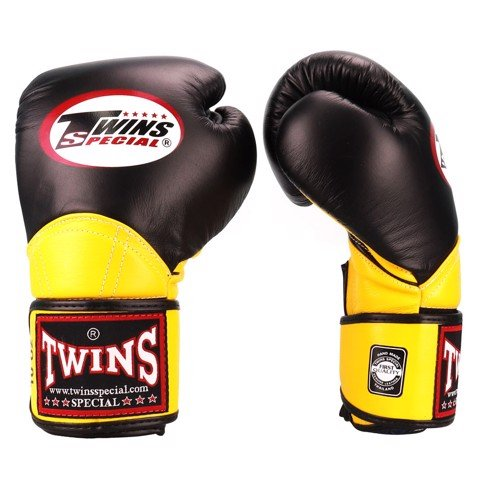 Găng Tay Twins Bgvl-11 Velcro Boxing Gloves - Black/Yellow