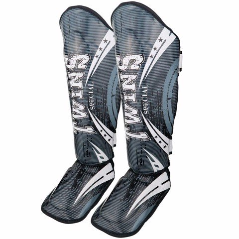BẢO HỘ CHÂN TWINS FSGL10-TW5 DOUBLE PADDED LEATHER SHINGUARD - BLACK/WHITE