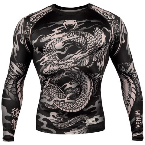 ÁO BÓ VENUM DRAGON'S FLIGHT RASHGUARD - LONG SLEEVES - BLACK/SAND