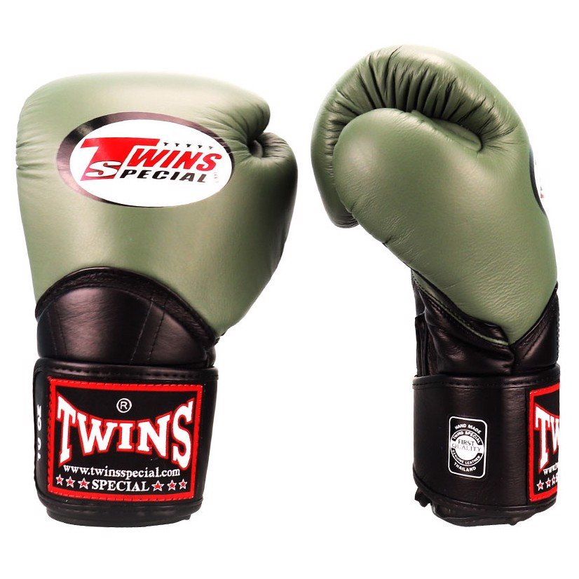 Găng Tay Twins Bgvl-11 Velcro Boxing Gloves - Olive/Black