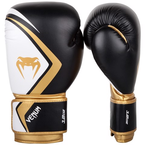 GĂNG TAY VENUM BOXING GLOVES CONTENDER 2.0 - BLACK/WHITE/GOLD