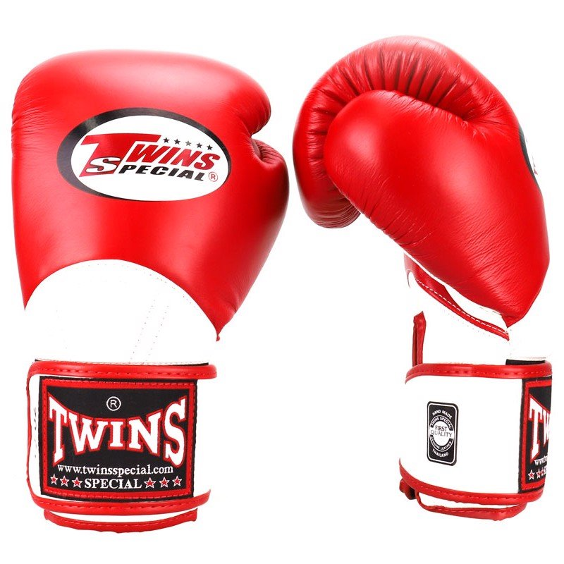 Găng Tay Twins Bgvl-11 Velcro Boxing Gloves - Red/White
