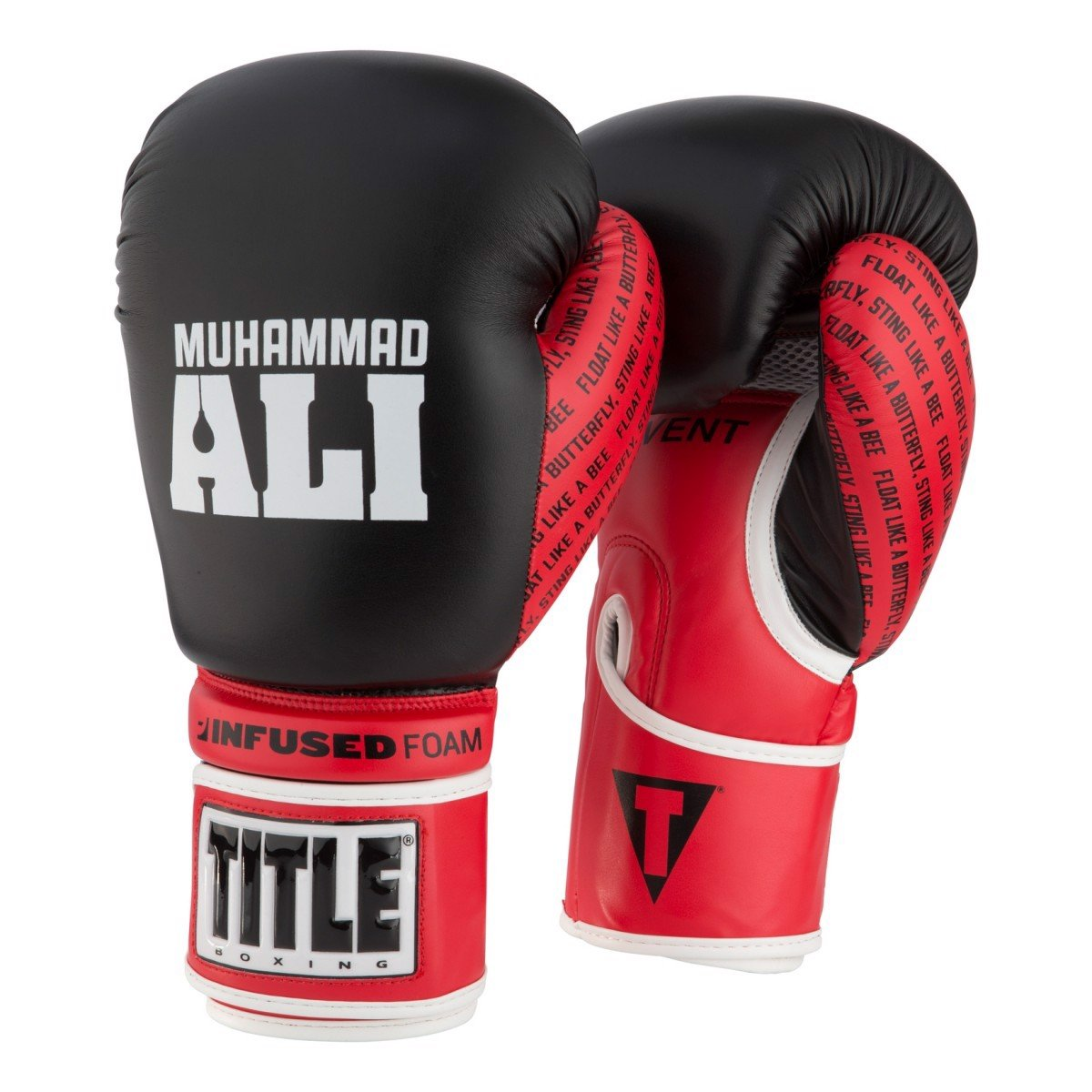 Găng Tay Title Ali Infused Foam Training Gloves - Black/Red