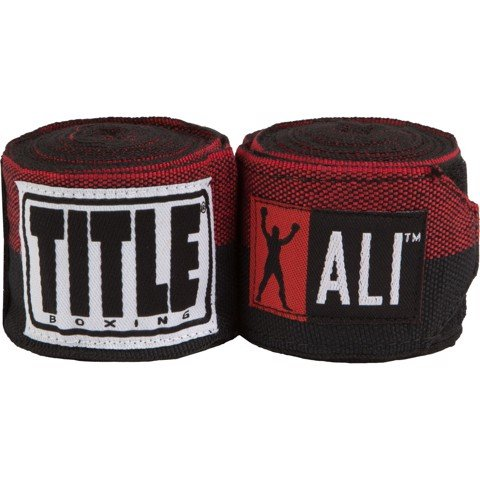 BĂNG QUẤN TAY TITLE MUHAMMAD ALI SEMI-STRETCH HAND WRAPS - BLACK/RED