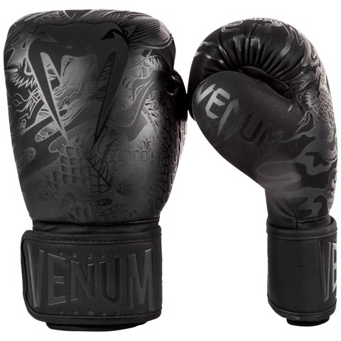 GĂNG TAY VENUM DRAGON'S FLIGHT BOXING GLOVES - BLACK/BLACK