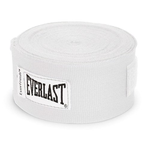 BĂNG QUẤN TAY EVERLAST PROFESSIONAL HAND WRAPS 180 WHITE - CO GIÃN