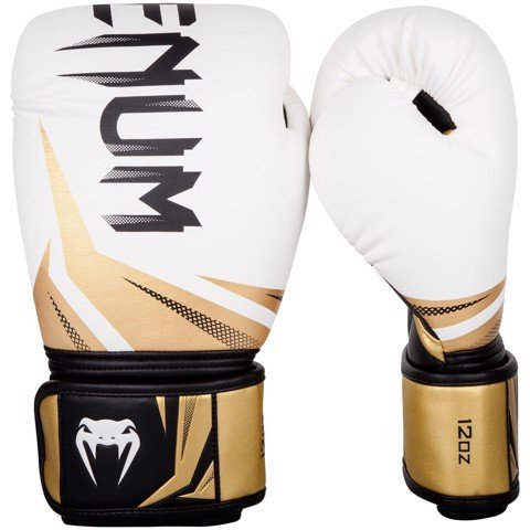 GĂNG TAY VENUM CHALLENGER 3.0 BOXING GLOVES - WHITE/BLACK-GOLD