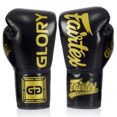 Găng Tay Fairtex Bglg1 X Glory Competition Gloves - Black
