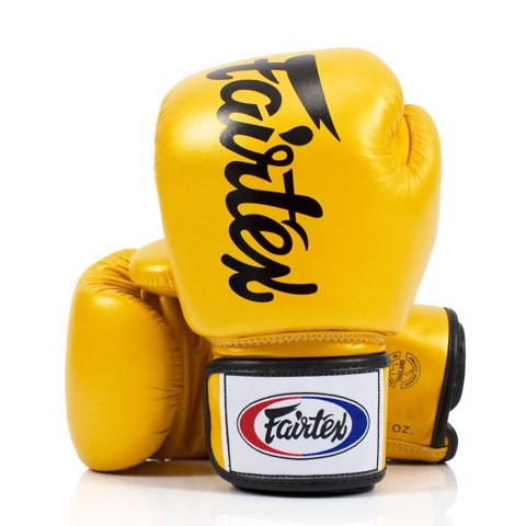 Găng Tay Fairtex BGV19 Gold Deluxe Tight Fit Gloves