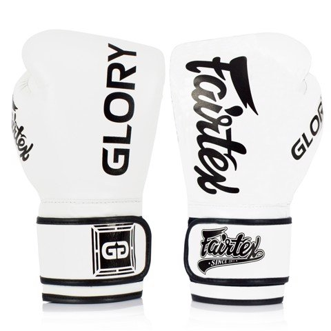 GĂNG TAY FAIRTEX BGLG1 x GLORY VELCRO BOXING GLOVES - WHITE