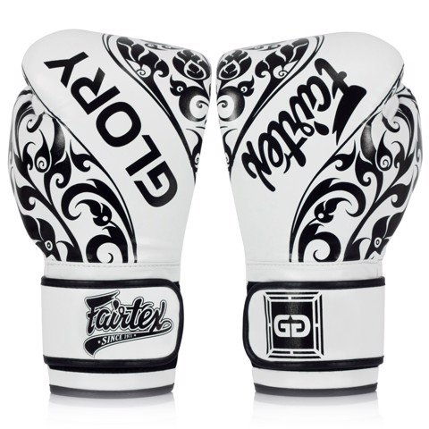 GĂNG TAY FAIRTEX BGLG2 BANGPLEE VELCRO BOXING GLOVES - WHITE