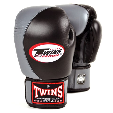 Găng Tay Twins BGVL-8 Velcro Boxing Gloves - Black/Grey