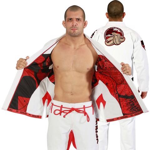 Gi Venum Absolute 2.0 Crimson Viper - White