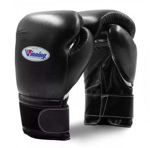 Găng Tay Boxing Winning Velcro Gloves - Black