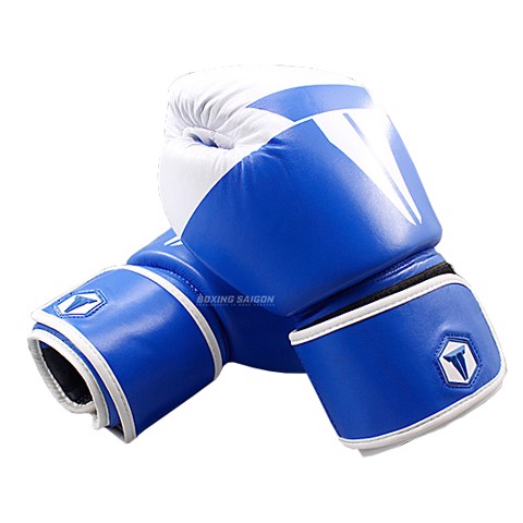 Găng Tay Throwdown Full-Grain Leather Boxing Gloves - Blue/White