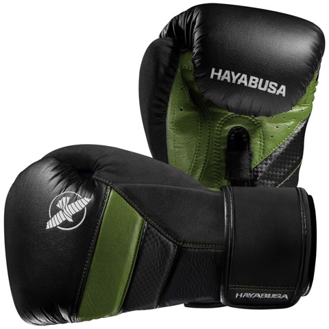GĂNG TAY HAYABUSA T3 BOXING GLOVES - BLACK/GREEN