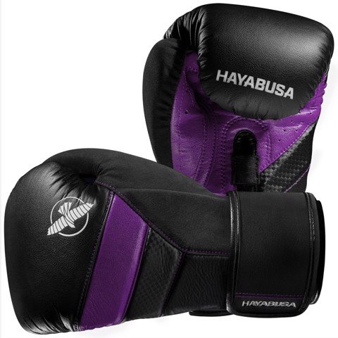 GĂNG TAY HAYABUSA T3 BOXING GLOVES - BLACK/PURPLE