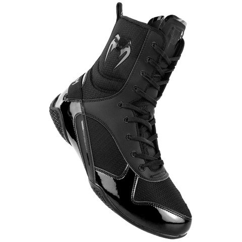 Giày Venum Elite Boxing Shoes - Black/Black